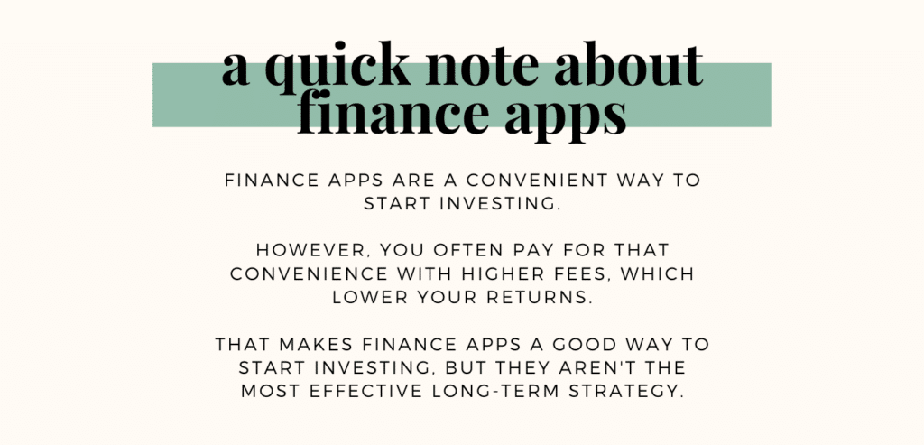 financial apps disclaimer