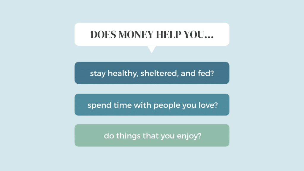 how money helps you - transforming your relationship with money